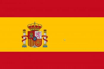 BANDERA ESPAÑA EXTERIOR CON ESCUDO 130X200CM
