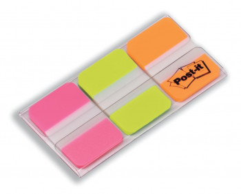 POST-IT INDEX RÍGIDOS 25,4X38 COLORES VIVOS
