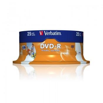 TARRINA VERBATIM DVD-R ADVANZED AZO16X 4.7GB 25UND