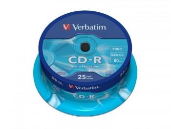 TARRINA CD VERBATIM 700MB 52X 25UND