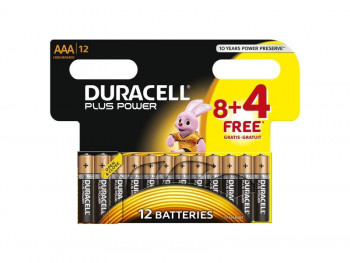 PILAS AAA ALCALINAS DURACELL PACK DE 12 PLUS