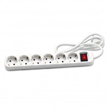 BASE MULTIPLE CEGASA 5 TOMAS + 2 USB 1,4 M CABLE
