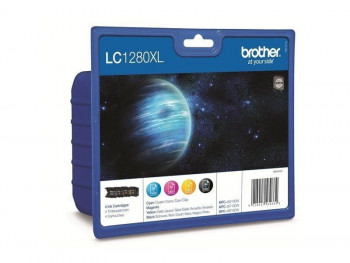 CARTUCHO BROTHER LC 1280XLVALBP PACK 4 (BK/C/M/Y)