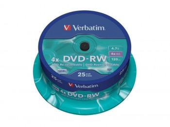 DVD-RW VERBATIM 120MIN 4.7GB 25UNDS