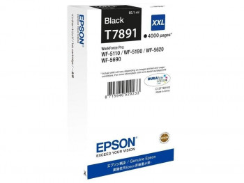 CARTUCHO EPSON NEGRO XXL WORKFORCE WF-5XXX SERIES 4000PAG REF. ESCRI18581