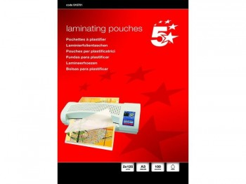 LAMINAS PLASTIFICACION A3 125 MICRAS 5 ESTRELLAS (100U)