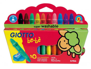 LAPICES CERA GIOTTO BE-BE 10 COLORES