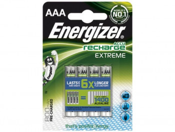PILAS RECARGABLES ENERGIZER HR03 AAA EXTREME PACK4