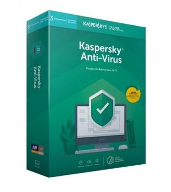 ANTIVIRUS KASPERSKY 2019 3 USUARIOS