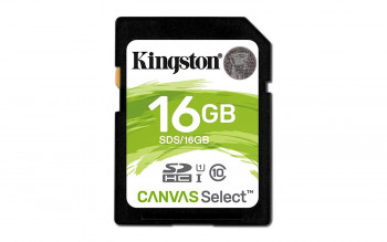 TARJETA SD 16GB KINGSTON CANVAS SELEC