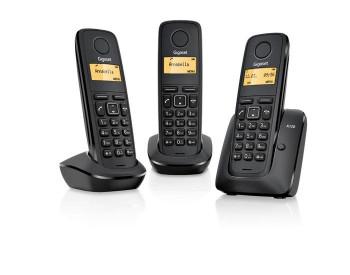 TELEFONO SIEMENS GIGASET TRIO A120 NEGRO