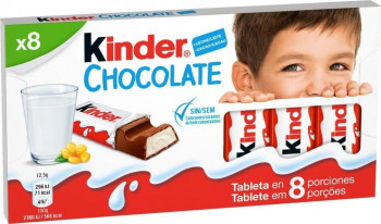 KINDER CHOCOLATE BARRITAS 100GR