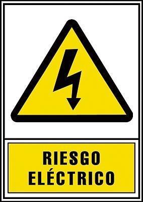 SEÑALIZACION DE RIESGO ELÉCTRICO EN PVC AMARILLO
