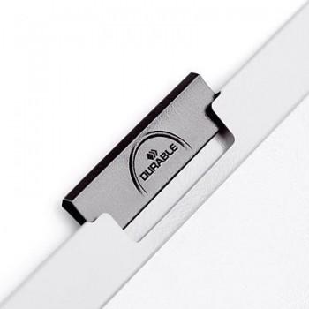 DOSSIER CLIP DURABLE DURACLIP A4 PVC PINZA METALICA 30HOJAS BLANCO 25UND. REF. 2200-06