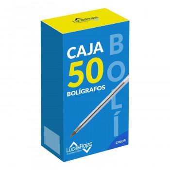 CAJA DE BOLIGRAFOS LUCAS ROJAS 50UNDS
