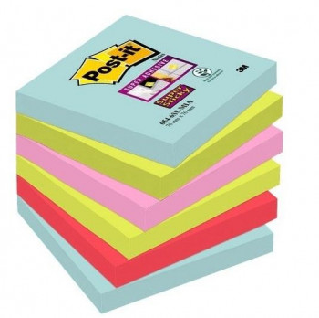BLOC DE NOTAS ADHESIVAS POST-IT 76X76 COLORES MIAMI