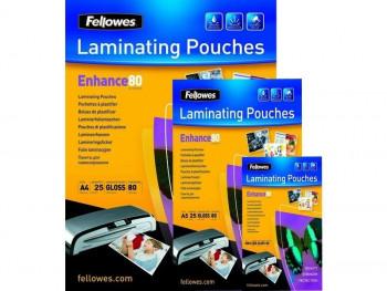 FELLOWES PACK 100 FUNDAS PLASTIFICAR 80 MIC. BRILLO A3 (303X426)