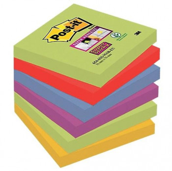 BLOC DE NOTAS ADHESIVAS POST-IT 76X76 COLORES MARRUECOS