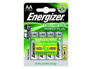 PILAS RECARGABLES ENERGIZER AA HR6 POWER PLUS PACK4