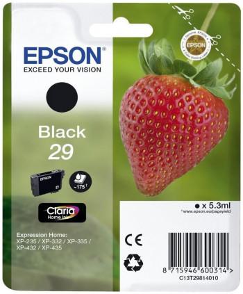 CARTUCHO EPSON 29 NEGRO T298140 - 175 Paginas