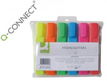 ROTULADORES FLUORESCENTES Q-CONNECT 6UNDS