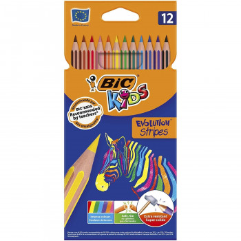 LAPICES COLORES BIC EVOLUTION STRIPES COLORES SURTIDOS