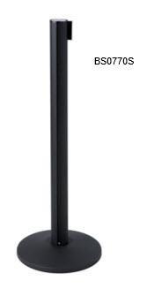 POSTE DIVISORIO CON 200cm CINTA NEGRA (pack 2 uni)
