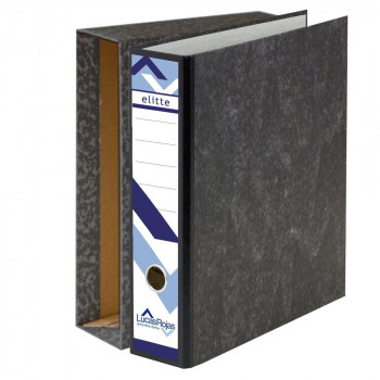 ARCHIVADOR A-Z ELITTE NEGRO FOLIO 75MM + CAJA  ( PACK )