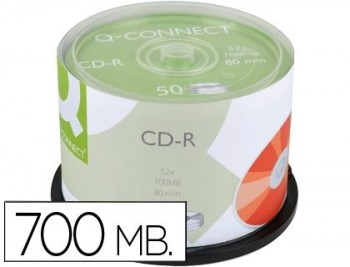 CD-R Q-CONNECT 700MB 52X 50UNDS