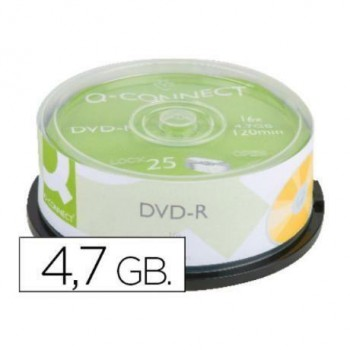DVD-R Q-CONNECT 4,7GB 16X 25UNDS