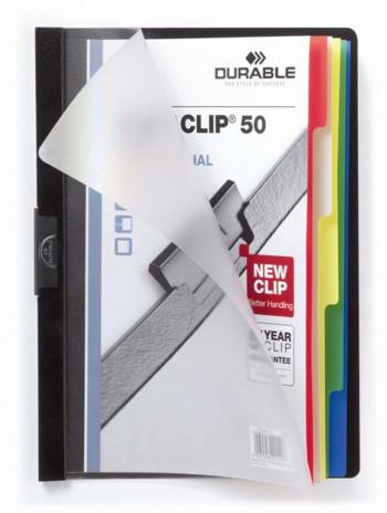 DOSSIER CON CLIP DURACLIP ORIGINAL INDEX 50
