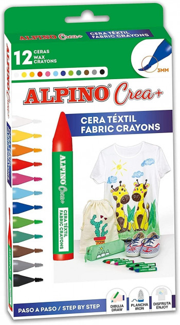 CERAS CREA TEXTILE ALPINO ESTUCHE DE 12 UND