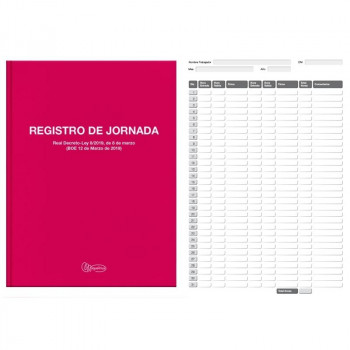 LIBRO Fº 40 REGISTRO HORARIO LABORAL MR