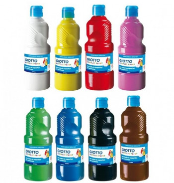 TEMPERA LIQUIDA GIOTTO LAVABLE 500ML COLORES SURTIDOS